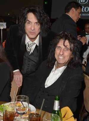 Paul Stanley and Alice Cooper
