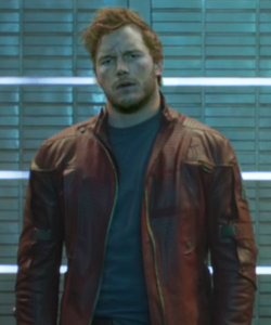 Guardians of the Galaxy 바탕화면 probably containing a business suit entitled Peter Quill