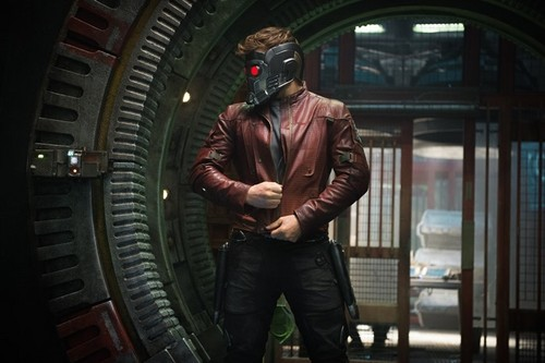 Guardians of the Galaxy 바탕화면 with a gasmask titled Peter Quill