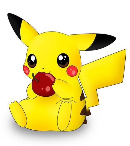 Pikachu wallpaper titled Pika apple