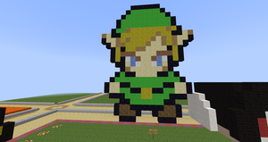 Pixel art: Link from Legend Of Zelda