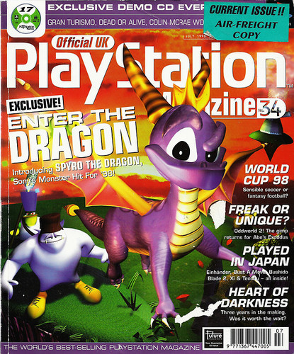 Spyro The Dragon پیپر وال containing عملی حکمت called PlayStation Magazine Cover