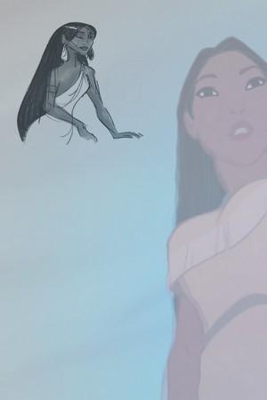 Pocahontas Concept Art vs. Final