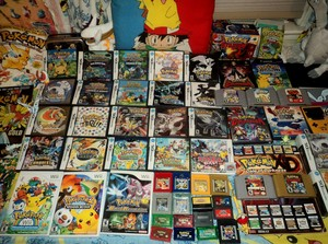 Pokemon video game collection