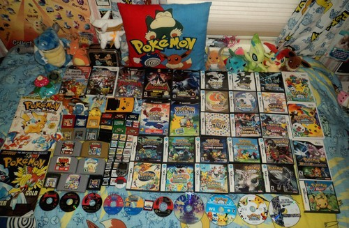 Video Games achtergrond containing anime entitled Pokemon video game collection