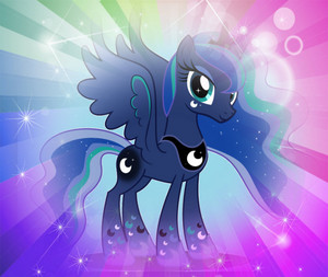 Princess Luna bahaghari Power Icon I Made