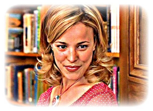 Rachel McAdams karatasi la kupamba ukuta with a bookshop, a bookcase, and a portrait called Rachel McAdams