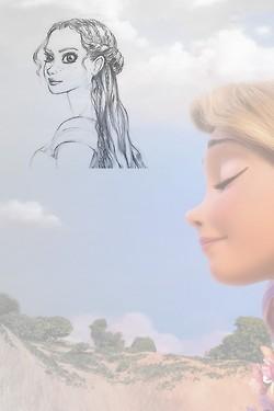 Rapunzel Concept Art vs. Final