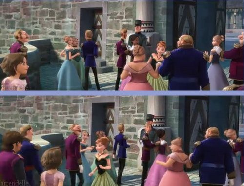 Rapunzel and Flynn karatasi la kupamba ukuta possibly with a street, a brownstone, and a penal institution entitled Rapunzel and Flynn take a trip to Queen Elsa's coronation