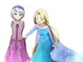 Rapunzel and Young Elsa