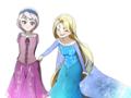 Rapunzel and Young Elsa