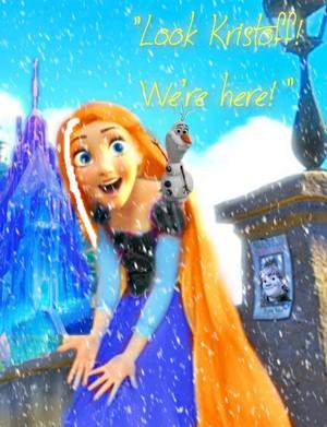 Rapunzel as Anna