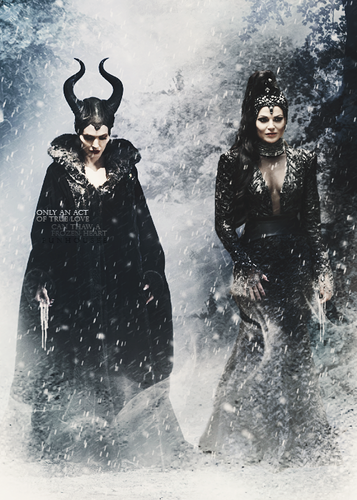 once upon a time wallpaper titled Regina and Maleficent