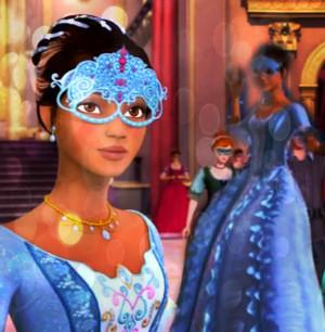 Renee's Blue Masquerade Ball toga, abito