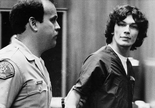 Serial Killers wallpaper containing a green beret and battle dress titled Richard Ramirez