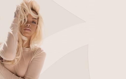 Rihanna fond d'écran with a chemise and a portrait called Rihanna Nude fragrance