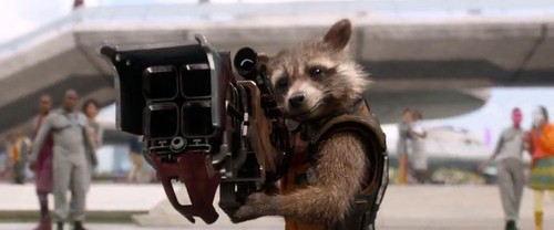 Guardians of the Galaxy 바탕화면 probably containing an opossum and a raccoon entitled Rocket Raccoon