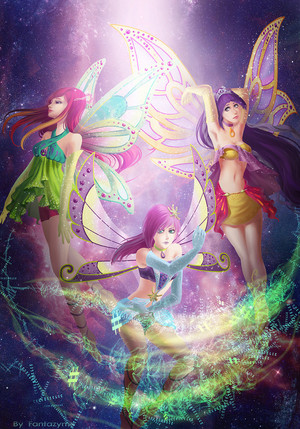 Roxy, Tecna and Tine Enchantix