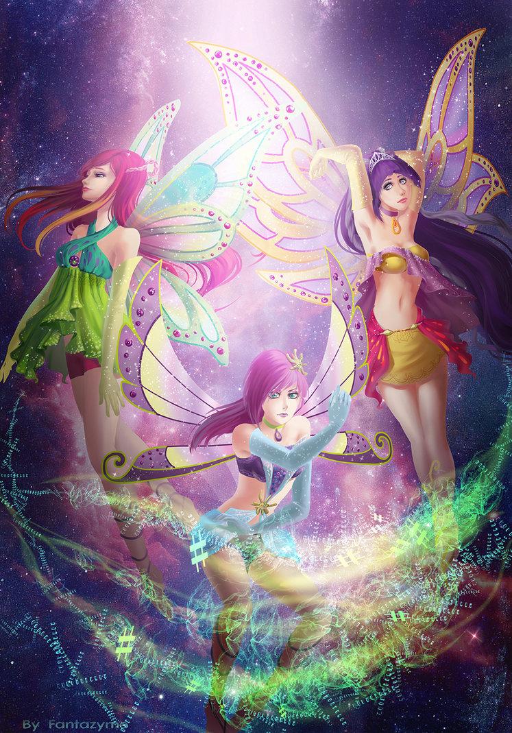 Roxy, Tecna and Tine Enchantix