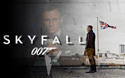 Skyfall wallpaper probably with a sign and a street called SKYFALL