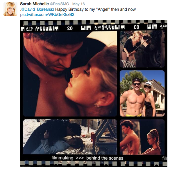 """SMG: """"Happy Birthday to my 'Angel' then and now."""""""