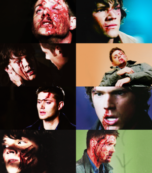 Sam and Dean Bleeding