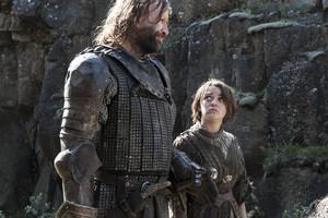 Sandor Clegane and Arya Stark