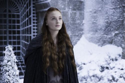 Sansa Stark Hintergrund containing a pelz mantel titled Sansa Stark