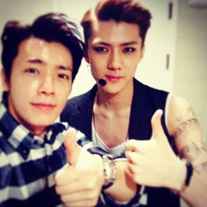 Sehun with Donghae