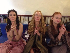 Sibel Kekilli, Lena Headey and Sophie Turner