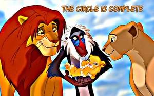 Simba, Nala, Rafiki and Kiara