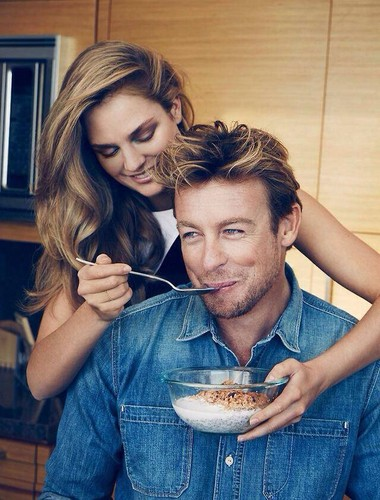Simon Baker karatasi la kupamba ukuta called Simon Baker for Givenchy// Gentlemen Only