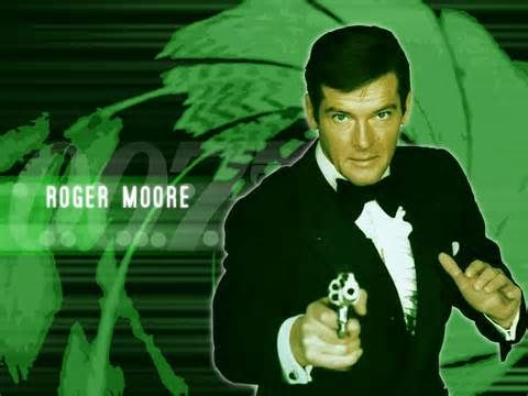James Bond 바탕화면 containing a portrait titled Sir Roger Moore