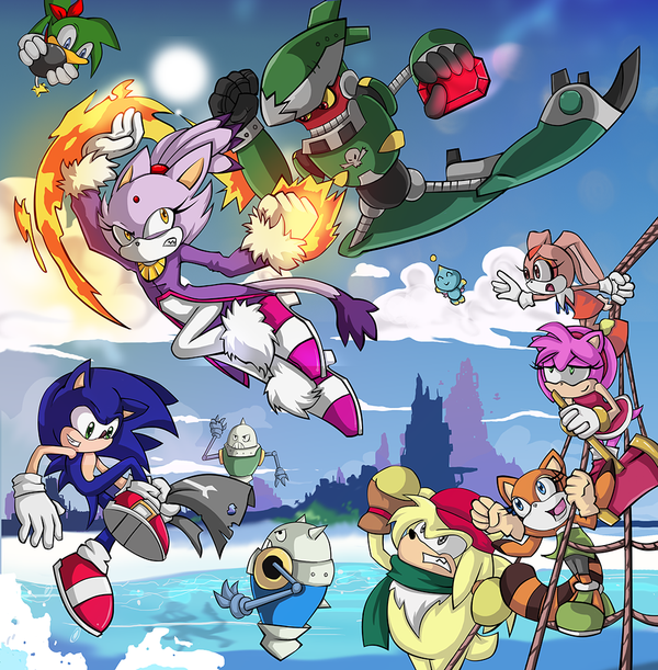Sonic Rush Images Skybattle Wallpaper And Background Photos 37196264