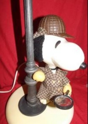 snoopy as Sherlock Holmes