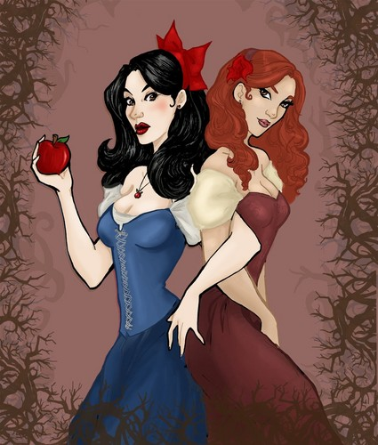 Fairy Tales & Fables वॉलपेपर entitled Snow White and Rose Red