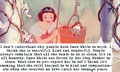 Snow White is strong compassionate, and doesn't deserve hate.