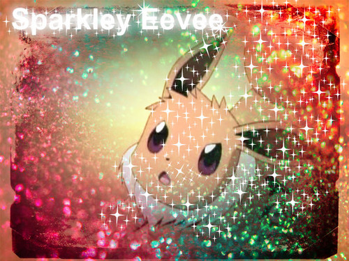 Eevee hình nền possibly containing a sign entitled Sparkley Eevee