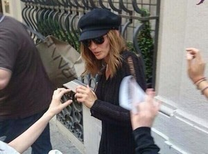 Stana and fans at Italy(June,2014)