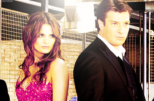 Nathan Fillion & Stana Katic karatasi la kupamba ukuta containing a business suit entitled Stanathan Photoshoot