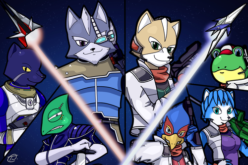 Nintendo wallpaper with anime entitled Starfox Art ^_^