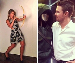Stephen Amell & Emily Bett Rickards wallpaper called Stephen Amell Emily Bett Rickards