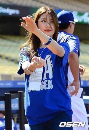 Suzy at Los Angeles Dodgers Stadium