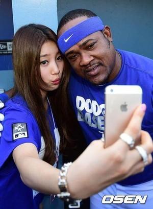 Suzy at Los Angeles Dodgers Stadium
