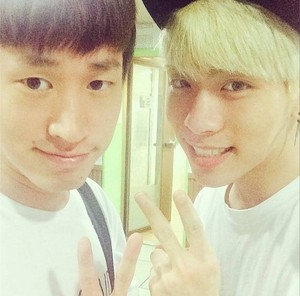 Tablo and Jonghyun