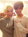 Taemin and EXO Suho