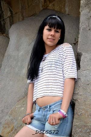 Tania on the rocks