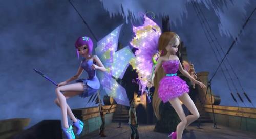 The Winx Club wallpaper called Tecna and Flora~ Mythix 3D