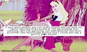 """The Classic/older princesses weren't damsels who """"waited for a man"""""""