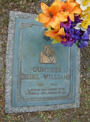 The Gravesite Of Gunther Gebel-Williams